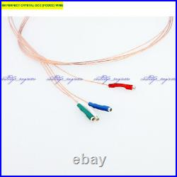 New15set/lot 5N PERFECT CRYSTAL OCC (PCOCC) Tonearm wire 508mm gold 1.3 terminal
