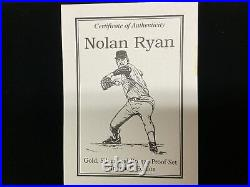 Nolan Ryan Strike Out Edition 1/4 OZ Pure Gold 1 OZ. 999 Pure Silver Coin Set