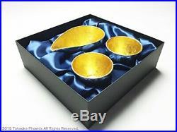 Nousaku 100% Pure Tin luxury Kanazawa Gold Leaf Sake Cup Set Made in Japan
