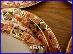 PERFECT ROYAL ALBERT Tea Cups Trios Plates DEVON Crown China Gold Gilt IMARI Set