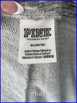 PINK Victoria's Secret VS Gray Rose Gold Bling Perfect Set Sweatshirt Pants M
