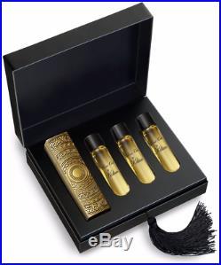 PURE OUD BY KILIAN Gift Set Gold Travel Spray Atomizer & 4 Refills 0.25 oz 7.5ml