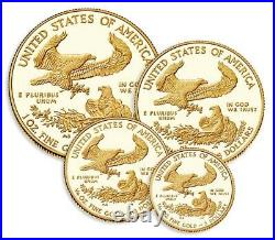 PURE SOLID GOLD COINS WOW! American Eagle 2019 Gold Proof Four Coin Set OGP