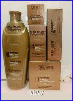PURE WHITE GOLD GLOWING LOTION 400ml, Fade serum, Tube Cream, BSC & SOAP 5pcs Set