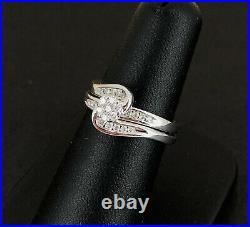 (Pa2) 9ct White Gold 0.33ct Diamond Perfect Fit Bridal Set 4.5gms