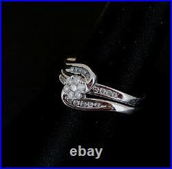 (Pa2) 9ct White Gold Diamond 0.33ct Perfect Fit Bridal Set 3.9gms Size N