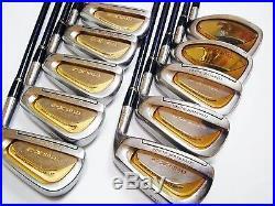 Perfect 10pc Beautiful Gold Maruman Titus X-2 R-flex Irons Set Golf Clubs 6227