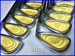 Perfect 10pc Gold Back Face SEIKO S-YARD U. 101 R-FLEX IRONS SET GOLF NWO