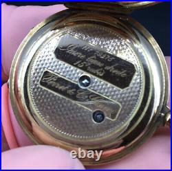 Perfect & Co Geneve High Grade Solid 14k Gold Back Wind/set Pocket Watch. Ladies