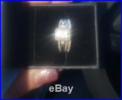 Perfect Fit 3/4 Ct Diamond Bridal Ring Set 9 Ct White Gold