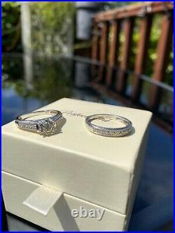 Perfect Fit 9ct White Gold Total Diamond Bridal Set Size 10