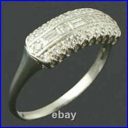 Perfect Vintage Art Deco Filigree Ring 14K White Gold Over 2.1 Ct Round Diamond