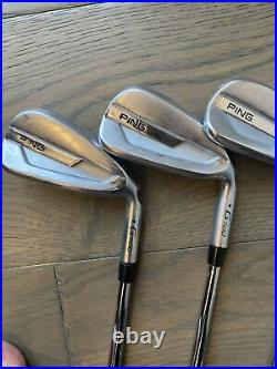 Ping G700 Blue Dot Iron Set Dynamic Gold 105 Stiff Pured 6-PW + UW + SW