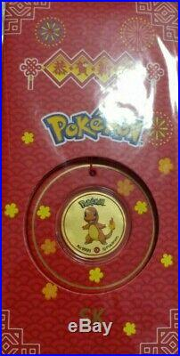 Pokemon 999 Pure Gold Coin 0.1g Ang Pow 5 PIECE COINS SET SK JEWELLERY