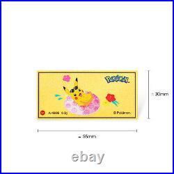 Pokémon Pikachu 999 Pure Gold Bars Set of 3 0.3g Chinese Lunar New Year