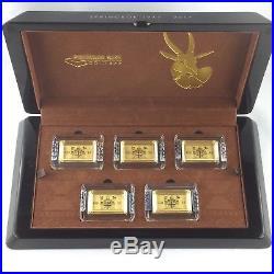 Premium-Size Pure Gold Bar Coin Set Springbok 1967 2017