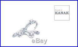 Pure 10k White Gold Heart Diamond Engagement Rings Ladies Wedding Bridal Set