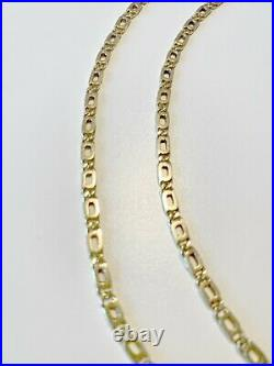 Pure 24K Solid Gold Shiny Diamond Cut Chain Necklaces (set of 2) 1.1oz / 31.2g