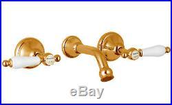 Pure 24K Yellow GOLD Mondella Maestro Lever Handle Bath Set