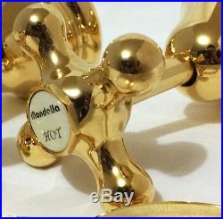 Pure 24K Yellow GOLD Mondella Maestro Wall Tap Top Assembly Set Shower Bath Taps
