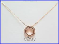 Pure Au750 18K Rose Gold Chain Set Women's Lucky O Link Circle Necklace