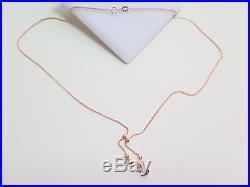 Pure Au750 18K Rose Gold Chain Set Women's Unique Wheat Link Bead Necklace