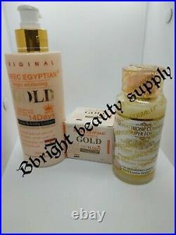 Pure Egyptian Magic Whitening Gold lotion setglutathione comp. Serum, face cream