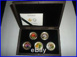 Pure Gold Coins Flora and Fauna 5-Coin Subscription Set (2015)