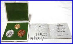 Pure gold koban + Tokyo Olympics commemorative medal set in gold