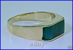 Pure gold ring 14k set with Eilat stone Israel! High quality jewelry