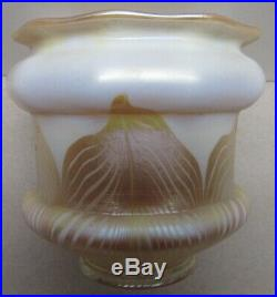 QUEZAL Set 4 Gold Pulled Feather Shades Scarce Shape Perfect Condition 4 1/4