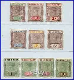 Qv Gold Coast 1898-1902 Very Good Set Scott 26-35 Sg 26-34 Perfect Mh