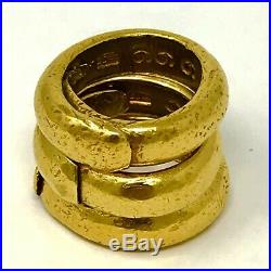 RARE HEAVY Solid 24 K (99.99% Pure) Hammered Ring Set The Holy Trinity 107g