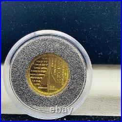 Rare 2009 TDC Year Of Gold Commemorative 4 X 1/25th OZ Pure Gold Crown Coin Set
