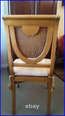 Rare, Stunning Set of Ten Dining Room Chairs from Hollywood Producer, Perfect