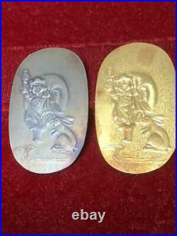 Rare goods Good luck pure gold, pure silver tax set (gold 10g silver 8g)