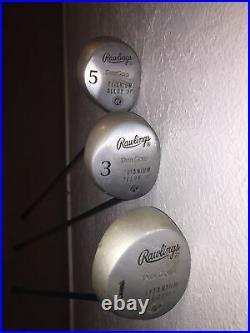 Rawlings RH Golf Club Set 1,3,5 woods, 8 Irons 3,4,5,6,7,8,9, PW Pure Gold