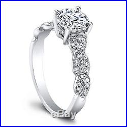 Real Pure 14K White Gold 1.20 Ct Diamond Ring Wedding Sets Size 4,5.1/2