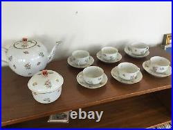 Retired Vintage Herend Eton 17 Piece Tea Set For 6. HER34. PERFECT. Gold Trim