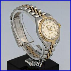 Rolex Datejust Gold/Steel Fabric Set Diamonds Dial Jubilee Bracelet Perfect Cond
