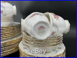 Royal Albert Tranquillity 5 Piece Setting x 8 England 40 Pieces Perfect Gold