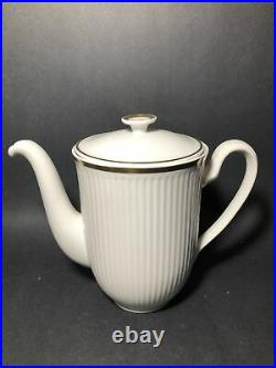 Royal Copenhagen Gold Trim White Coffee/Tea Set Perfect Condition / JC