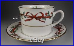Royal Worcester Holly Ribbons 5 Piece Place Setting Settings England Perfect