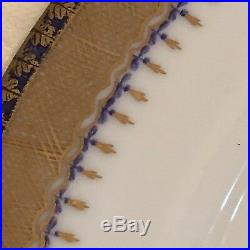 STUNNING MOTTEDEH LIMOGES PERFECT 4pc Setting for EIGHT. PURPLE IRIS/Gold trim
