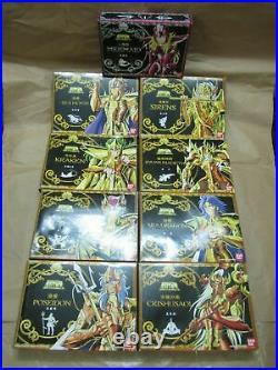 Saint Saint Seiya Gold Cloth Poseidon Figure Chogokin Set of 9 -Perfect Version