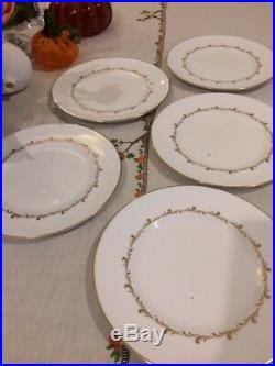 Set of 12 Royal Doulton Rondo salad plates. Perfect condition. White, gold