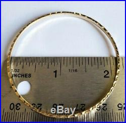 Set of 7 Brand New Pure 14K Gold Bangle Bracelets 6.7 inches PETITE. 2.5 mm wide