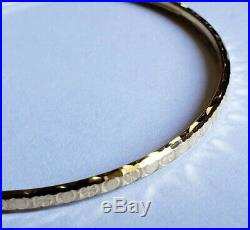 Set of 7 Brand New Pure 14K Gold Bangle Bracelets 6.7 inches PETITE. 2.75mm wide