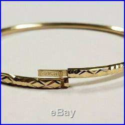 Set of 7 Brand New Pure 14K Gold Bangle Bracelets. 7 inches PETITE. 2.5 mm wide