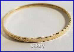 Set of 7 Brand New Pure 14k gold Bangle bracelet. 7 inch long. 3.5 mm wide